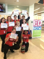 Students participating in the Arts Ed Now campaign