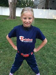 Leah Hansen plays softball for the Long Hill Twisters