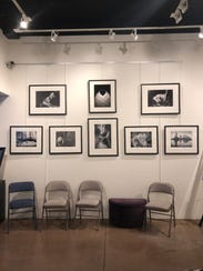 A collection of Tom Coverdale's works are displayed