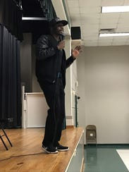 Motivational speaker Larrese Rollins told the students