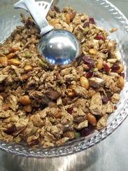The Granola Jar's balsamic chicken salad is flavored