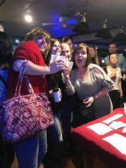 Troy Hendrickson as Aunt Mary Pat DiSabatino takes a photo with fans at an appearance in Folsom, Pa., last month.