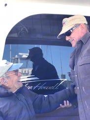Sonny DeFilipo, left, and Captain Phil Delanie of the