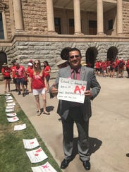 A group of Arizona teachers on May 1, 2018 graded state