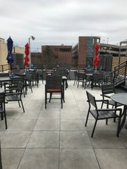 The rooftop patio at Fat Joe's offers views from above
