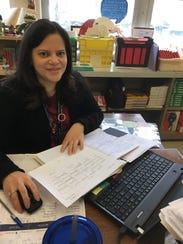 Immaculata's Vanessa Roulett teaches Spanish 1 to students