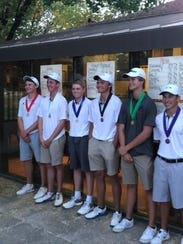 The Bishop Manogue golf  team finished second in the