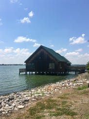 Overnight visitors can stay in cabins on the water
