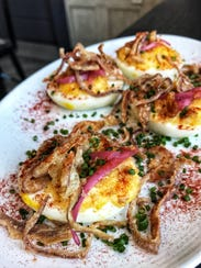 Deviled eggs from Heritage Food + Drink in Wappingers