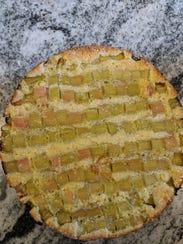 Simple Rhubarb Coffee Cake