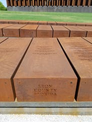 """The Leon County """"pillar"""" at the National Memorial for"""