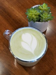 The finished matcha green tea latte is lightly sweet, super creamy, and full of the toasty flavor of green tea.