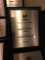 The Montgomery Advertiser took home 29 awards from