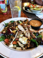 Chicken apple walnut salad at City Line Family Restaurant in New City. Photographed May 29, 2018.