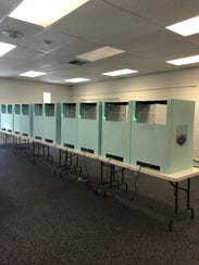 The booths in the polling center where Mesquite residents
