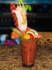 The Lobster Mary is garnished with a five to six ounce