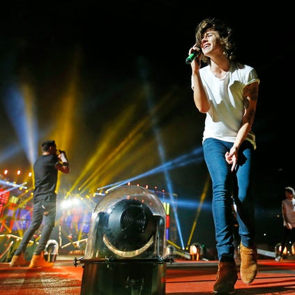 One Direction performs Tuesday, Sept. 16  2014  at the University of Phoenix Stadium in Glendale, Arizona.