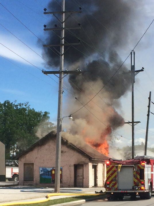 Fire severely damages historic Genoa building
