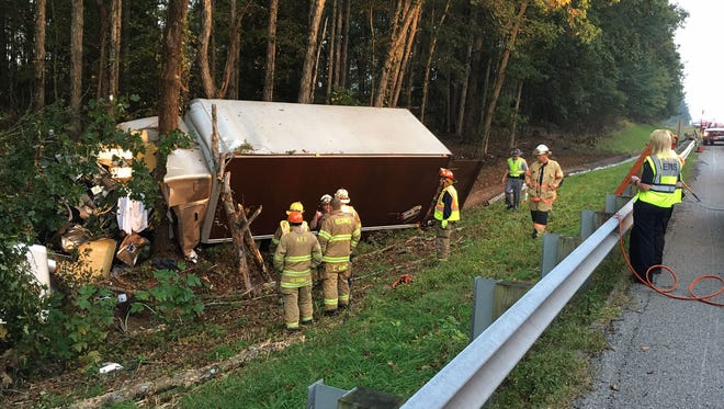 A Blacksburg man was killed in Anderson County Sunday in a crash with a box truck.