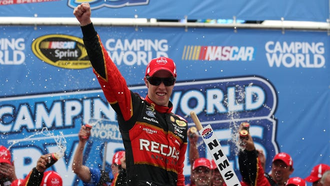 Brad Keselowski became the first driver to sweep both races at New Hampshire Motor Speedway.