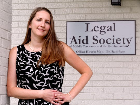 Aimee Luna, an attorney with the Legal Aid Society of Middle Tennessee & the Cumberlands, fought with her client to make a recent change to an MHA rule, about housing. Luna stands outside her Murfreesboro office, on Friday, June 30, 2017, in Murfreesboro, Tenn.
