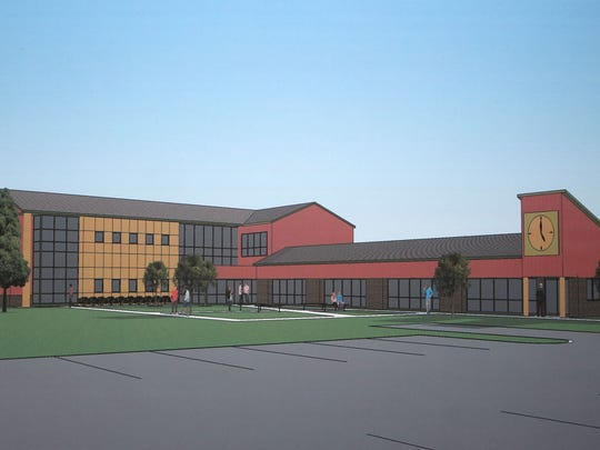 Artist's rendering of the new Daytop outpatient treatment facility, on display during the groundbreaking ceremony for Daytop New Jersey, a substance abuse treatment facility in Pittsgrove, Wednesday, Jun. 18, 2014.