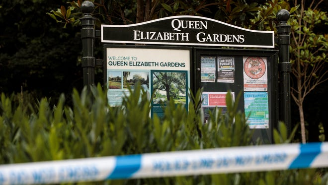 A police cordon in place at Queen Elizabeth Gardens in Salisbury after a major incident was declared when a man and woman were exposed to the Novichok nerve agent on July 5, 2018 in Salisbury, England.