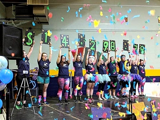 A dance marathon held recently by Elmira College raised more than $14,000 for the Children's Miracle Network.