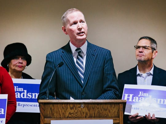 Jim Haadsma, a Democrat, will run against Rep. John Bizon for the 62nd District seat.