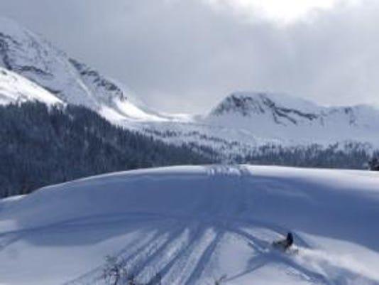 Snowmobiler on Molas Pass