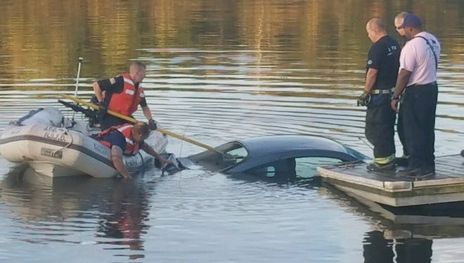 An unoccupied blue 2006 Chevrolet Cavalier was found in the Raritan River in Edison early Tuesday.