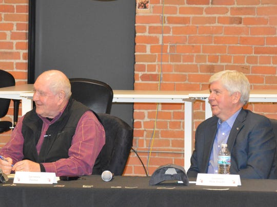USDA Secretary Sonny Perdue, together with Michigan Governor Rick Snyder participated in a roundtable discussion about issues in Michigan agriculture.
