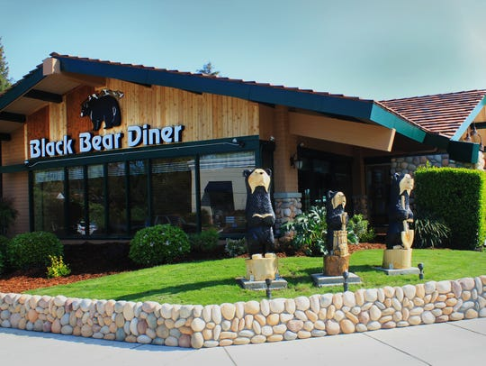 Exterior decor at the Black Bear Diner in Visalia features