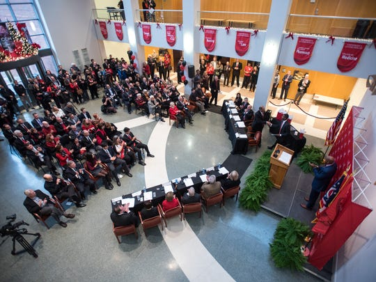 UC's Board of Trustees meet on Saturday Dec. 17, 2016 to announce that Dr. Neville Pinto will become UC's 30th President (Phil Didion for The Enquirer).