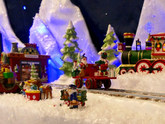 """The North Pole will come to life at Fazio's in Elm Grove with a collection of over 100 miniature illuminated buildings """"depicting the magic, excitement, and childhood innocence of the North Pole during Christmas time."""""""