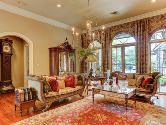 There are soaring ceilings and wonderful views in the