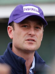 Kerntucky Derby wiinner Nyquist's assistant trainer, Jack Sisterson. May 9, 2106.