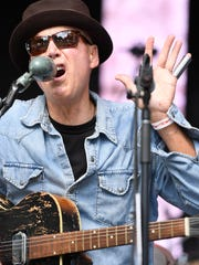 Blues musician Markus James open's the stage at the