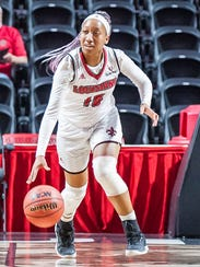 UL's Troi Swain scored 16 points behind four 3-pointers