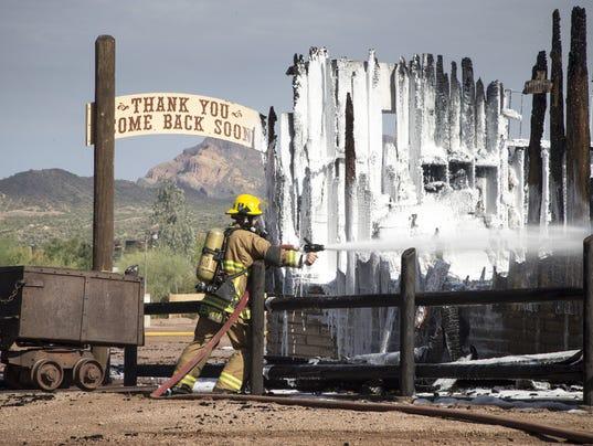 Mining Camp Restaurant fire