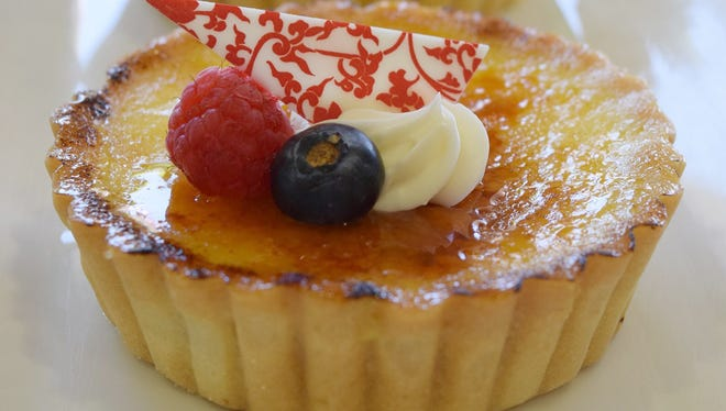 The creme brulee tart at Honeymoon Sweets in Tempe.