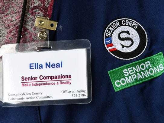 Senior Companion Ella Neal, a retired nurse, volunteers to help three more frail seniors, including one who is 99, with light housekeeping, errands and, most importantly, company.