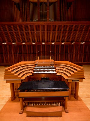 The Sursa Performance Hall organ, in the Ball State University Music Instruction Building.