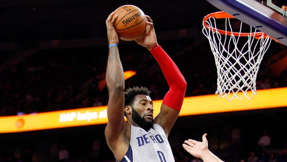 Detroit Pistons center Andre Drummond (0) has been