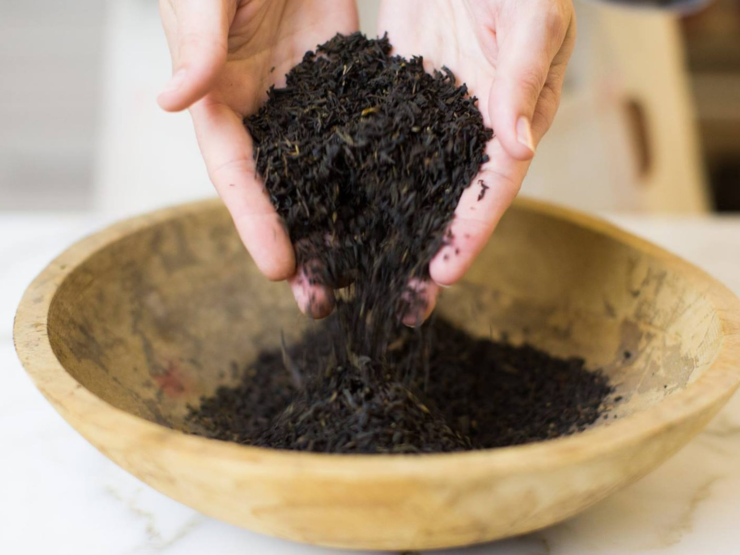 Loose-leaf tea.