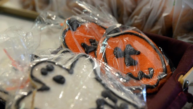 Ghost and jack-o-lantern cookies from the bakery at Springdale Farm.