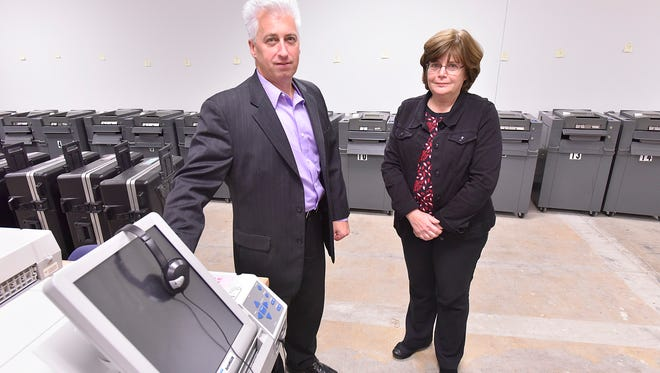 Westland City Clerk Richard LeBlanc and Deputy Clerk Sue Hoff are confident in the integrity of the election in their community. The secure area voting where machines are stored is accessible to five people. Before the move to the new city hall, election machines were stored off-site in a warehouse.