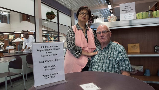 Christina and Jim Bezy must close the Chapters Cafe.