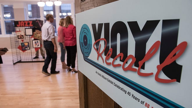 An exhibit dubbed Vinyl Recall was created to celebrate 45 years of broadcasting by 88.1 The Park, WSDP-FM, the student-run radio station in Plymouth-Canton.