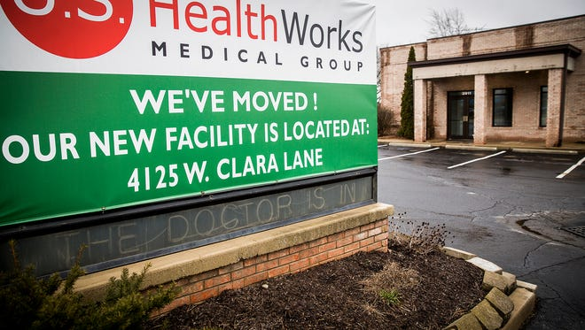 The former site of a U.S. HealthWorks facility on Clara Lane.